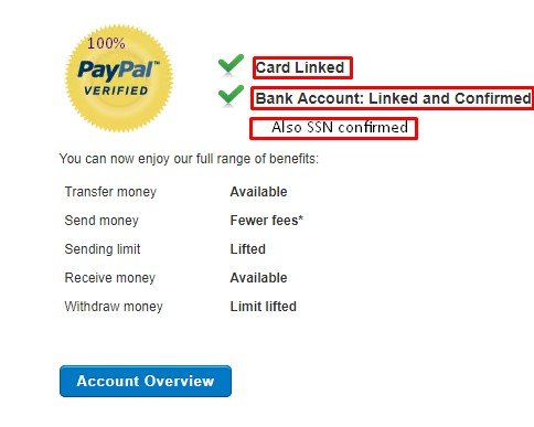 Buy verified paypal account
